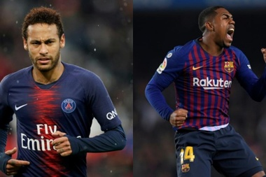 Neymar and Malcom, could they be moving on in the summer? AFP