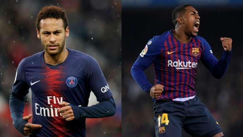 Los vasos comunicantes de Neymar y Malcom. AFP