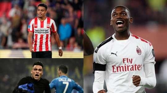 Barca's candidates to replace Luis Suarez. AFP/Twitter/RafaelLeao
