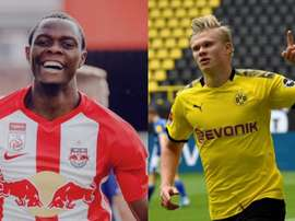 Salzburg have found a substitute for Haaland. Twitter/FCRedBullSalzburg/AFP