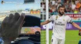Karim Benzema s'est filmé au volant.  Instagram/karimbenzema