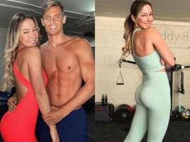 Marcos Llorente e a sua esposa te ajudam e ficar em forma. Instagram/paddy.8