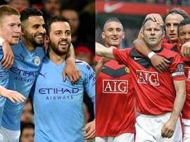 City-United, dix années en arrière. AFP/EFE