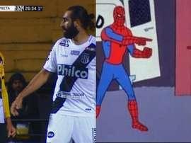 Quand le 'meme' de Spiderman devient réalité...Captura/SporTV