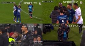 Marega a voulu quitter le terrain contre Guimaraes. Capture/SportTV1