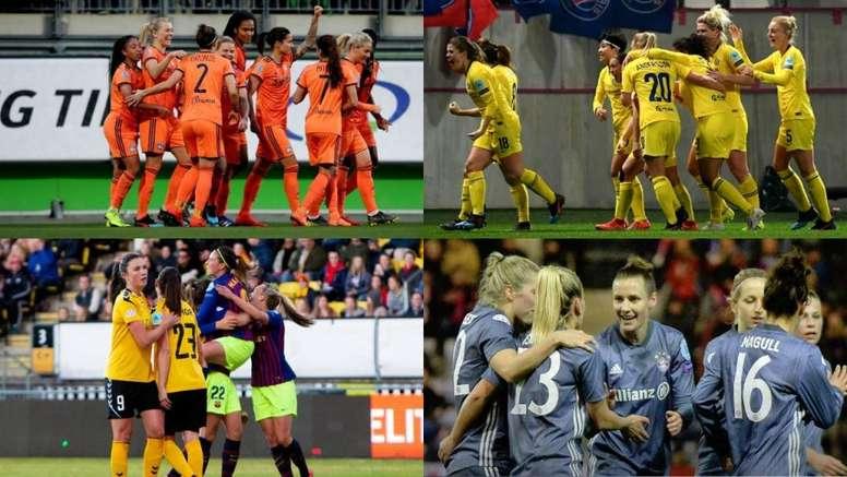 Ya están las semifinales de la Champions League. EFE