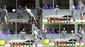 Así se las gastan los jugadores del Tottenham. Captura/TheSunFootball