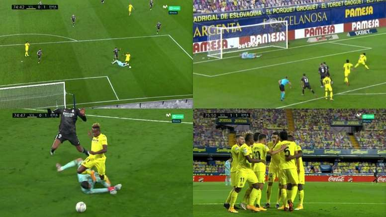 Courtois conceded the penalty.Captura/Movistar