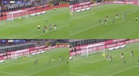 'Gigio' paró un penalti, pero no pudo con la magia de Ribéry. Capturas/Vamos