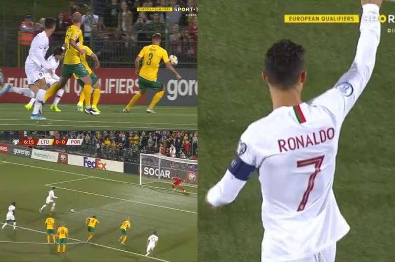 Joao Felix and Cristiano Ronaldo were key in Portugal's goal. SportTV/DirectL'Equipe