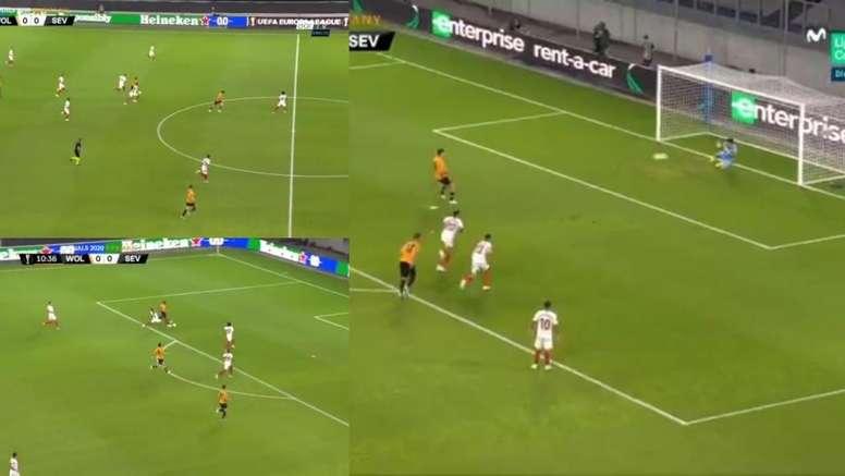 El 'show' de Adama: carrea de 60 metros, provoca un penalti... y lo falla Raúl Jiménez
