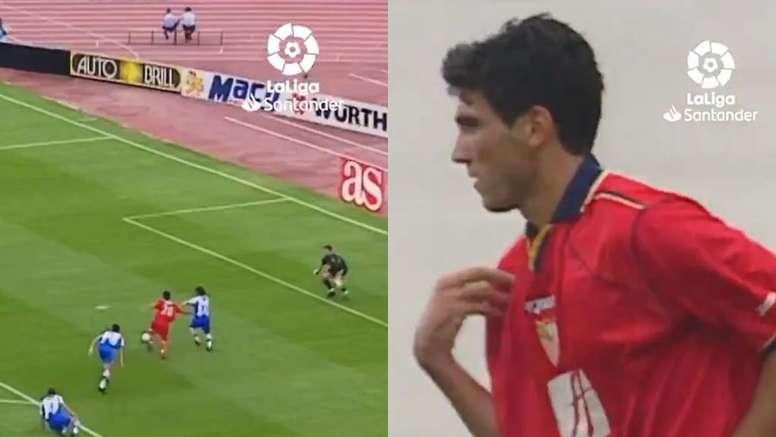 El primer gol de Reyes en Liga cumplió 19 años. Capturas/LaLiga