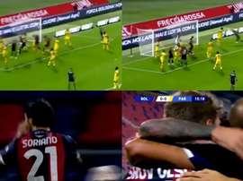 Soriano le hizo un doblete al Parma en la primera mitad. Captura