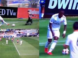 Vinicius enjoyed a fine game. Screenshot/RealMadridTV