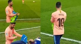 El emotivo gesto de Messi con una persona con diversidad funcional. Capturas/ilovefutboll