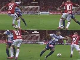 D'Alessandro volvió a hacer su mítico regate. Capturas/CONMEBOL