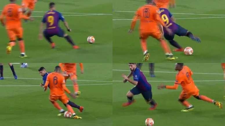 Le magnfique geste de Suárez à Marcelo. Capture/Movistar+