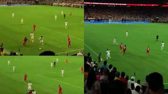 La genialidad de Kubo que puso en pie a todo el estadio. Captura/Twitter