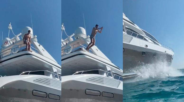 El portero presumía así de sus vacaciones en el mar. Instagram/thibautcourtois