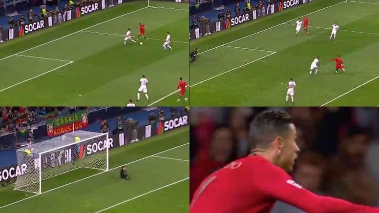 Cristiano Ronaldo ganó el premio al mejor gol de la Liga de las Naciones. Capturas/UEFA