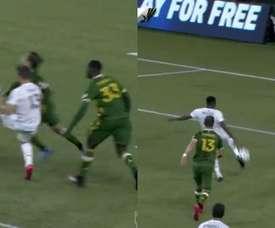 Finlay se inventó una asistencia de espaldas Captura/MLS