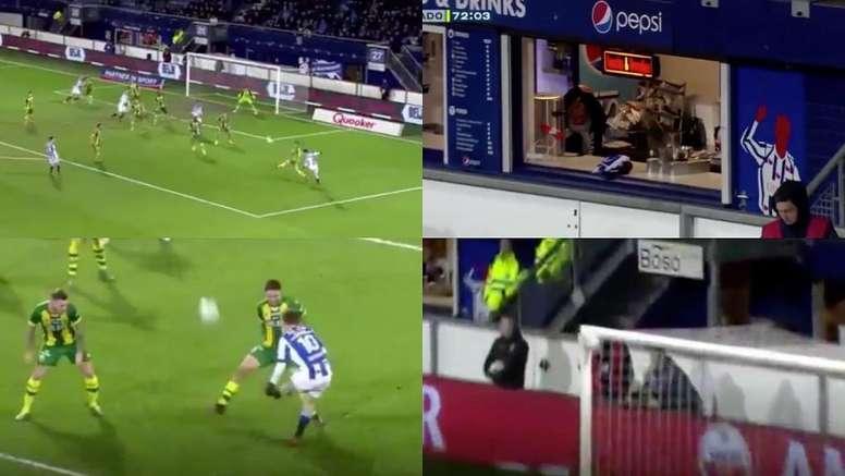 Halilovic pasó de un extremo al otro. Captura/SkySports