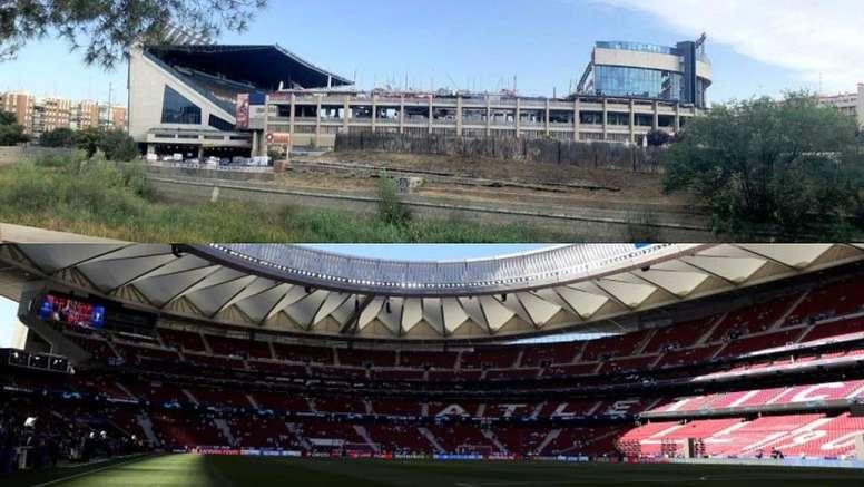 La caída del Calderón cubrirá los gastos de construcción del Wanda. EFE/Twitter/David_bb9/