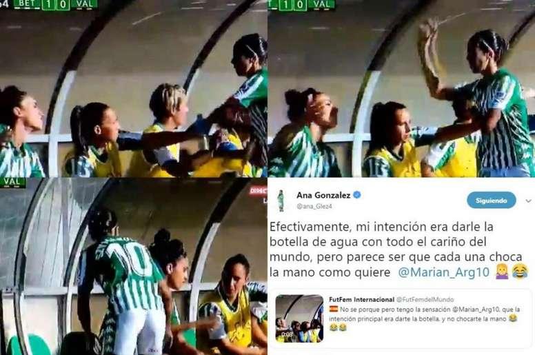 La cómica confusión entre Ana González y Szymanowski. Captura/Twitter/FutFemInternacional