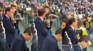 Allegri refuse un autographe à un jeune supporter de la Juve. Montage Twitter/PapaVanBasten
