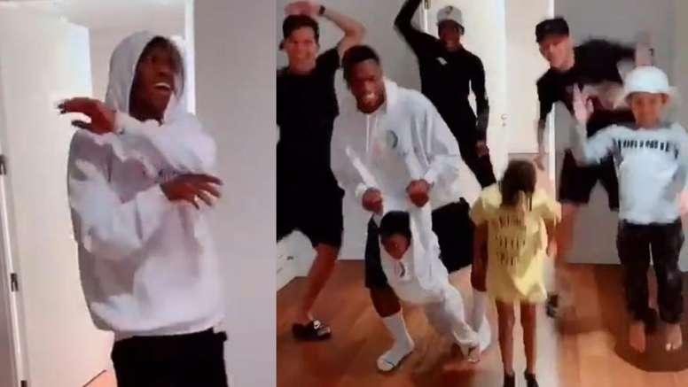 Vinicius se convirtió en meme con su viral baile en TikTok. Capturas/IbaiLlanos