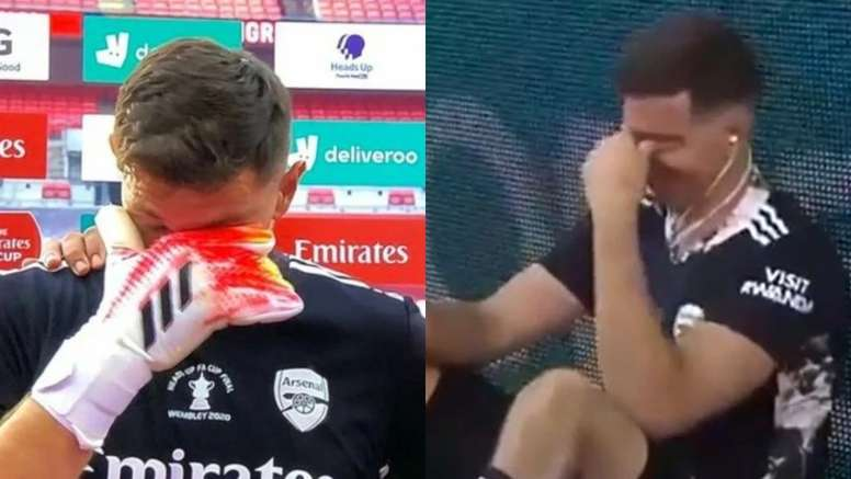 La emoción de Emi Martínez con la FA Cup. DAZN