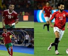 En-Nesyri, Ziyech et Salah s'illustrent dans le tournoi. Montage/AFP/EFE