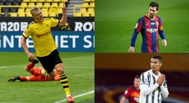Haaland ha tardado 25 partidos en meter 25 goles. EFE/AFP