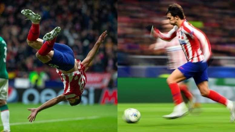 Felipe y Joao Félix, nominados a los premios de la semana de la UEFA. EFE/AFP