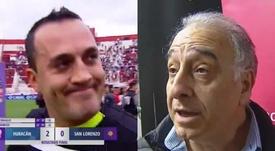 El árbitro del Huracán-San Lorenzo denunció amenazas de Nadur. Capturas/TNTSportsLA