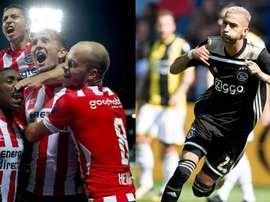 L'Ajax et le PSV sont en tête du classement. EFE