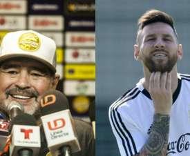 Maradona aclaró el debate sobre su relación con Leo. EFE