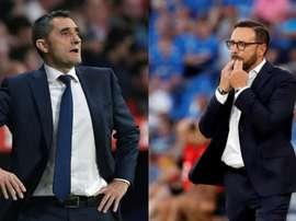 Barça y Getafe, los dos equipos que más presionan. EFE/AFP