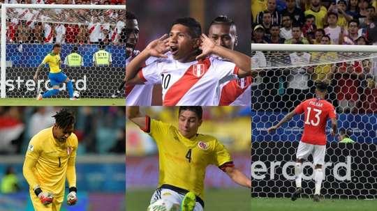 Les 'anonymes' qui ont triomphé pendant la Copa América. AFP/EFE
