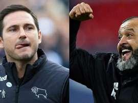 Lampard et Nuno, des options pour Chelsea. AFP