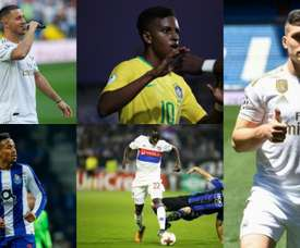 Real Madrid have signed five players and 61 goals. AFP/EFE
