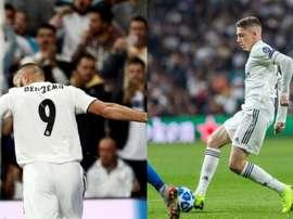Benzema y Valverde, dos buenas noticias. EFE