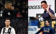 Cuatro grandes goleadores. AFP/EFE