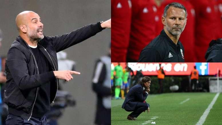 Pep Guardiola, Ryan Giggs and Matías Almeyda all make the list. AFP/EFE