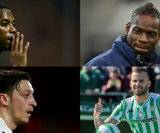 Robinho, Balotelli, Ozil and Jese never won the Ballon D'or. AFP/EFE