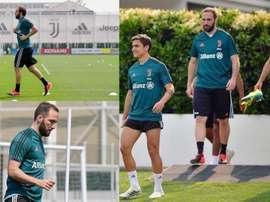 As fotos de Higuaín na volta ao trabalho. Juventus