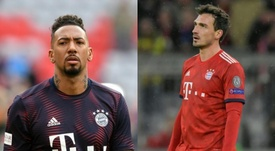 Boateng's future will be decided by what happens with Hummels. Montaje/AFP