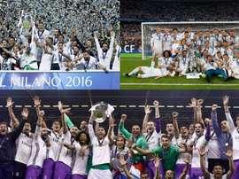 Kroos recordou as três Champions vencidas pelo Real Madrid. EFE-AFP