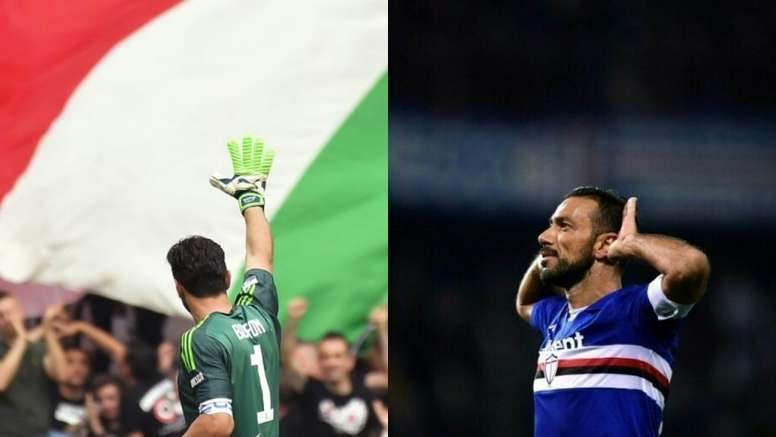 Buffon y Quagliarella, tan veteranos como válidos. AFP-EFE