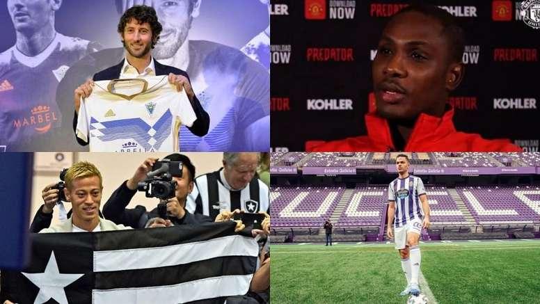 Granero, Ighalo, Honda, Ben Arfa... MarbellaFC/ManUTD/AFP/RealValladolid